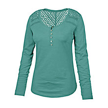 Buy Fat Face Lula Henley Top, Ocean Tide Online at johnlewis.com