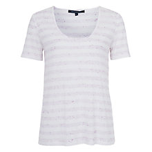 Buy French Connection Stripe Top, Pink/White Online at johnlewis.com