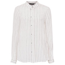Buy French Connection Letter Pin Silk Shirt, Summer White Online at johnlewis.com