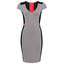 Buy French Connection Manhattan Cap Sleeve V-Neck Dress, Orange Online at johnlewis.com