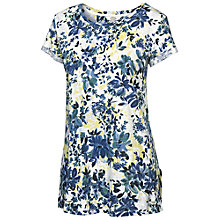 Buy Fat Face Devon Abstract Floral T-shirt, White Online at johnlewis.com