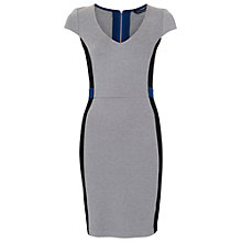Buy French Connection Manhattan V-Neck Dress, Grey Online at johnlewis.com