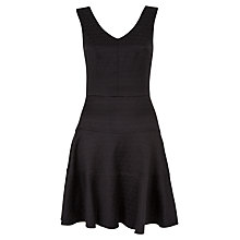 Buy Closet Jacquard V-Neck Dress, Black Online at johnlewis.com