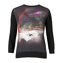 Buy Ted Baker Rainbow Waterfall Knit, Mid Green Online at johnlewis.com