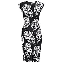 Buy French Connection Shadow Bloom Dress, Black Online at johnlewis.com