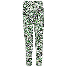 Buy French Connection Leopard Print Trousers, Astro Green Multi Online at johnlewis.com