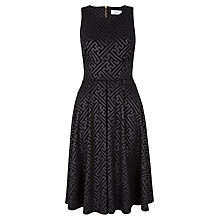 Buy Closet Embossed Pleat Midi Dress, Black Online at johnlewis.com