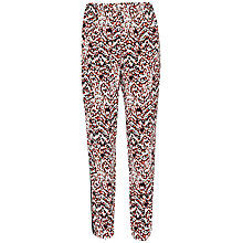 Buy French Connection Leopard Moth Crepe Gathered Trousers, Sunset Orange Multi Online at johnlewis.com