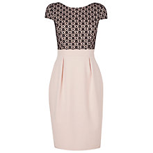 Buy Phase Eight Verina Lace Dress, Nude/Black Online at johnlewis.com