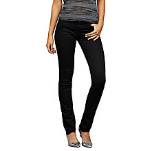Buy AG The Harper Straight Cut Jean, Black Overdye Online at johnlewis.com