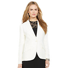 Buy Lauren Ralph Lauren Linen Single-Button Blazer, Pearl Online at johnlewis.com