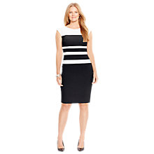 Buy Lauren Ralph Lauren Two Tone Dress, Black/Ivory Online at johnlewis.com