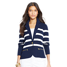 Buy Lauren Ralph Lauren Adewina Striped Knitted Blazer Online at johnlewis.com