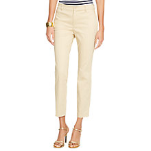 Buy Lauren Ralph Lauren Slim Trousers, Kensington Tan Online at johnlewis.com