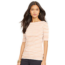 Buy Lauren Ralph Lauren Benny Boatneck Jersey Top Online at johnlewis.com