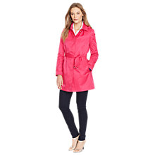 Buy Lauren Ralph Lauren Hooded Trench Coat, Hot pink Online at johnlewis.com