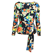 Buy Lauren Ralph Lauren Floral Cotton Shirt, Multi Online at johnlewis.com