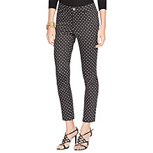 Buy Lauren Ralph Lauren Spot Trousers, Black/Pearl Online at johnlewis.com