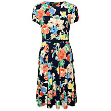 Buy Lauren Ralph Lauren Belted Jersey Dress, Multi Online at johnlewis.com