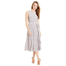 Buy Lauren Ralph Lauren Polka-Dot Sleeveless Dress, Slate/Colonial Online at johnlewis.com