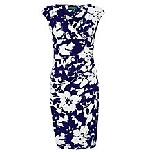 Buy Lauren Ralph Lauren Cap-Sleeved Jersey Dress, Vivid Blue Online at johnlewis.com