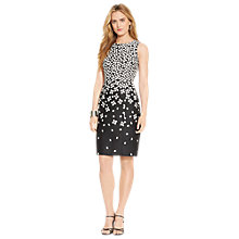 Buy Lauren Ralph Lauren Sleeveless Dress, Black/White Online at johnlewis.com