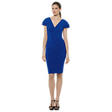 Buy Lauren Ralph Lauren Cap Sleeve Dress, Cannes Blue Online at johnlewis.com