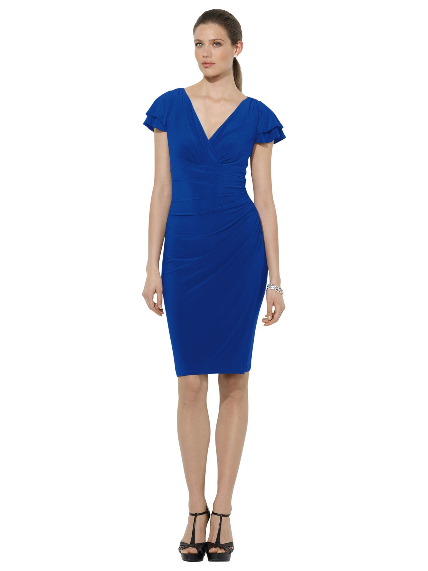 lauren ralph lauren cap sleeve dress cannes blue, lauren, ralph, cap, sleeve, dress, cannes, blue, lauren ralph lauren, 6|12|10|8|16|14, women, womens dresses, men, ralph lauren, lauren ralph lauren for women, shop by brand, 1929591