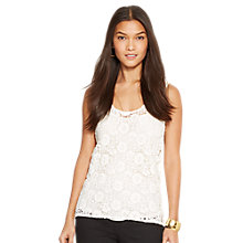 Buy Lauren Ralph Lauren Lace Sleeveless Top Online at johnlewis.com