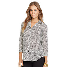 Buy Lauren Ralph Lauren Lulu Shirt, Black/Pearl Online at johnlewis.com