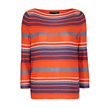 Buy Ralph Lauren Kardisha Boatneck Top, Multi Online at johnlewis.com