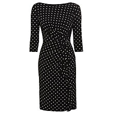 Buy Lauren Ralph Lauren Spot Dress, Black/Colonial Online at johnlewis.com
