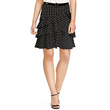 Buy Lauren Ralph Lauren Ruffled Polka-Dot Skirt, Black Online at johnlewis.com