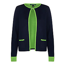 Buy Ralph Lauren Hersha Cardigan, Navy/Kiwi Online at johnlewis.com