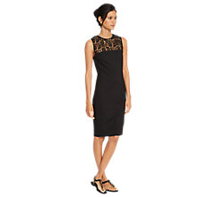 Buy Lauren Ralph Lauren Lace-Yoke Sleeveless Dress, Black Online at johnlewis.com