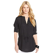 Buy Lauren Ralph Lauren Rolled-Cuff Tunic Top, Black Online at johnlewis.com