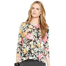 Buy Lauren Ralph Lauren Floral Linen Shirt, Multi Online at johnlewis.com