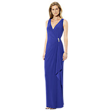 Buy Lauren Ralph Lauren Sleeveless Brooch Dress, Cannes Blue Online at johnlewis.com