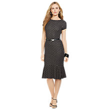 Buy Lauren Ralph Lauren Kandence Cap Sleeve Dress, Black Online at johnlewis.com