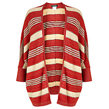Buy Lauren Ralph Lauren Striped Linen-Blend Cardigan, Red Multi Online at johnlewis.com
