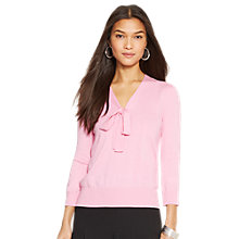 Buy Lauren Ralph Lauren Madeline Knit Top, Garden Pink Online at johnlewis.com