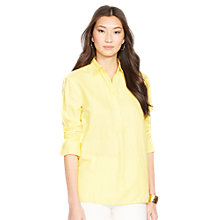 Buy Lauren Ralph Lauren Priya Cotton Shirt, Yellow Online at johnlewis.com