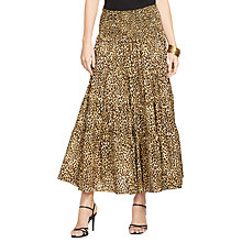 Buy Lauren Ralph Lauren Cheetah-Print Tiered Skirt, Multi Online at johnlewis.com