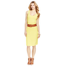 Buy Lauren Ralph Lauren Scoop-Neck Sleeveless Dress, Vivid Yellow Online at johnlewis.com