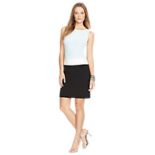Buy Lauren Ralph Lauren Colour Block Dress, Black/Pale Aqua Online at johnlewis.com