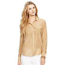 Buy Lauren Ralph Lauren Silk-Cotton Work Shirt, Arrowhead Tan Online at johnlewis.com