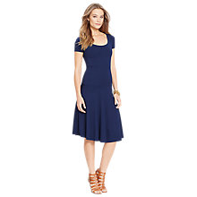 Buy Lauren Ralph Lauren Flared Scoopneck Dress Online at johnlewis.com