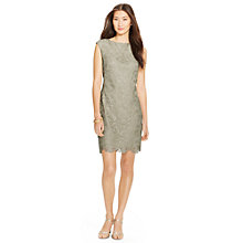 Buy Lauren Ralph Lauren Lace Cap-Sleeved Dress, Stunning Sage Online at johnlewis.com