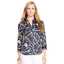 Buy Lauren Ralph Lauren Equestrian-Inspired Shirt, Navy Multi Online at johnlewis.com