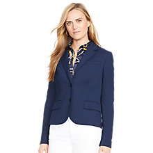 Buy Lauren Ralph Lauren Two Button Blazer, Spring Navy Online at johnlewis.com